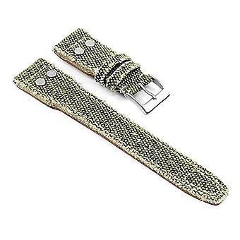 Watch strap made by strapsco for iwc watch strap canvas weave frayed edge with rivets