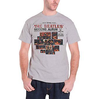 The Beatles T Shirt Andra Album Band Logo nya officiella Mens Grey