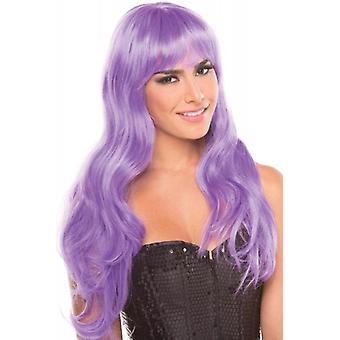 Perruque burlesque - Violet clair
