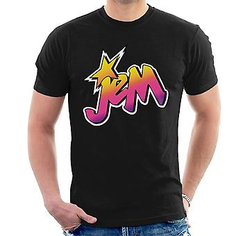 Jem And The Holograms Classic Faded Logo Men's T-Shirt