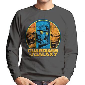 Marvel Guardians Of The Galaxy Star Lord Groot Rakete Waschbär Männer's Sweatshirt