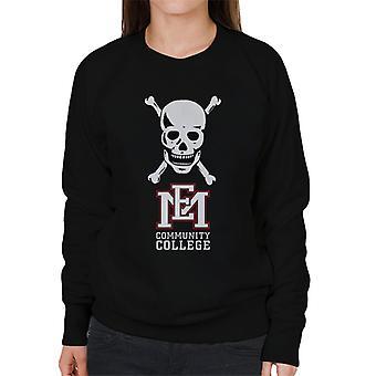 East Mississippi Community College skull logo kvinnor ' s Sweatshirt