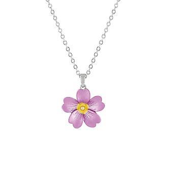 الجمع الأبدي زهرة الربيع الوردي قلادة زهرة المينا