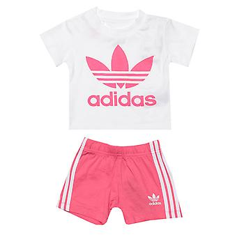 Boy's adidas Originals Baby Trefoil T-Shirt and Shorts Set in White