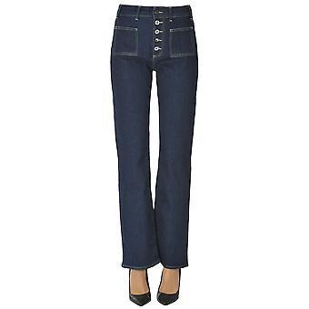 Atelier Cigala's Ezgl457016 Women's Blue Cotton Jeans