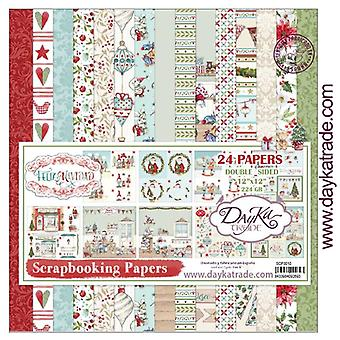DayKa Trade Feliz Navidad 12x12 Inch Paper Pack