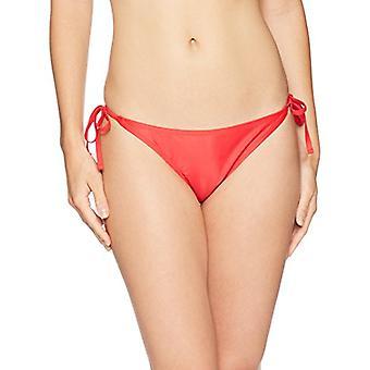 Marke - Mae Frauen's Bademode Olivia Seite Krawatte Bikini Unten, Lava rot, groß