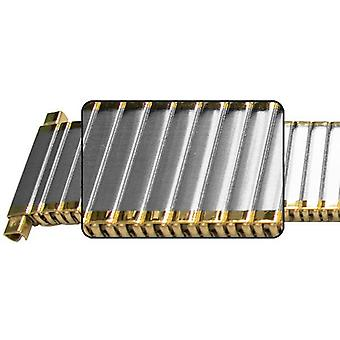 Expander watch bracelet  18mm to 22mm (18mm) mirror edge gold, silver, two tone and rose