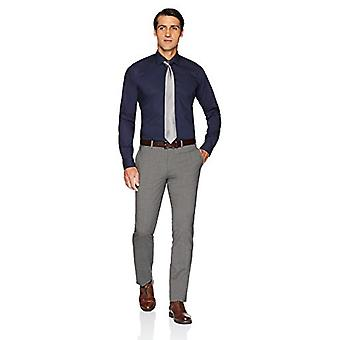 BUTTONED DOWN Miehet&s Slim Fit Stretch Poplin Ei-iron mekko paita, Navy, 15&; Kaula 34&hiha