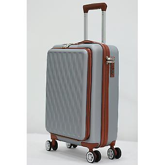 Herzberg Travel HG-8064SLV: Cabin Bag - Silver
