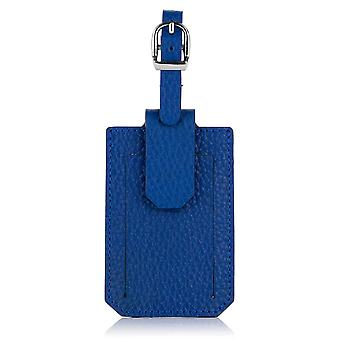 Sapphire Blue Richmond Luxury Leather Luggage Tag