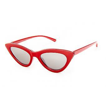 Sunglasses Women's Butterfly Red Mirror Glass (PZ20-069)