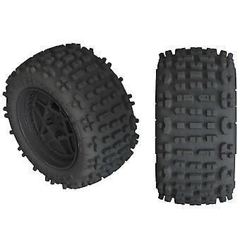 Arrma AR550050 Hátraszaltó LP 4S Tire 3,8 Ragasztott fekete (2)