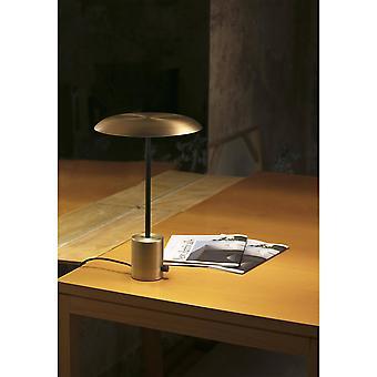 LED Tischleuchte Schwarz, Gold