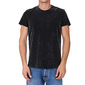 Balmain Uh01601i378eac Camiseta hombre's de algodón negro