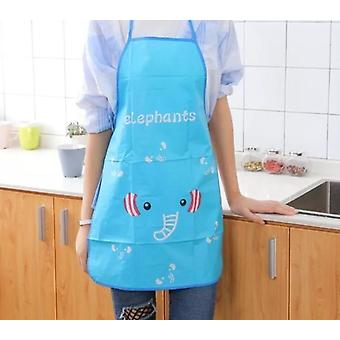 Kitchen Apron Rabbit Printing, Bbq Bib Apron Cooking Baking Restaurant, Home