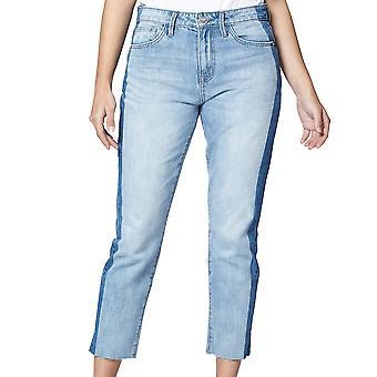 Sanctuaire | Charli Shadow Stripe High-Rise Straight Leg Jeans