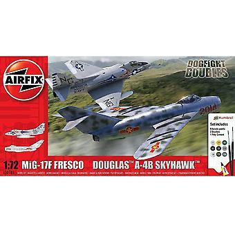 Airfix A50185 Mig 17F Fresco und Douglas A-4B Skyhawk Dogfight 1:72 Maßstab