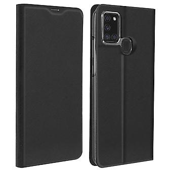Galaxy A21s Case Cover Card Holder Support Soft Touch Bigben - Black