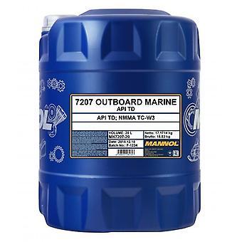 Mannol 20L Outboard Marine Deux temps Huile moteur API TD NMMA TC-W3