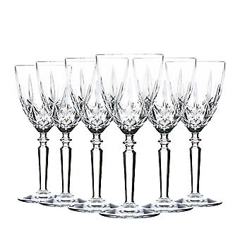 RCR Crystal Orchestra Cut Glass Wine Glasses Goblets Set - 290ml - Pack of 6