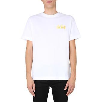 Versace Jeans Couture B3gzb7kb30327k41 Miesten's Valkoinen Puuvilla T-paita
