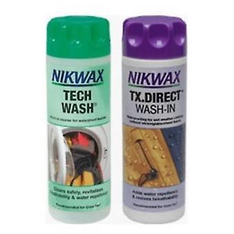 Pacchetto gemello Nikwax Tech Wash/TX Direct Clean & Proof