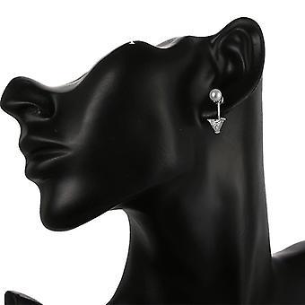 اللؤلؤ مسمار هندسية الماس قطرة الأقراط