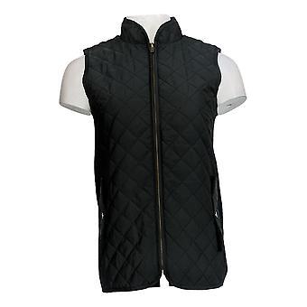 Joan Rivers Classics Collectie Women's (XXS) Vest Black A295943