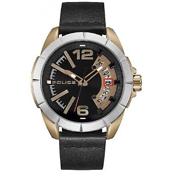 Police watches urban watch for Analog Quartz Men with Cowhide Bracelet R1451316002