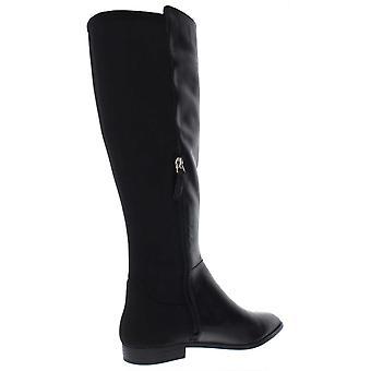 Nueve west mujeres Owenford tela puntiaguda dedo del nivel alta botas de clima frío
