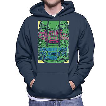 The Creature From The Black Lagoon Demon Water Head Men's Hooded Sweatshirt