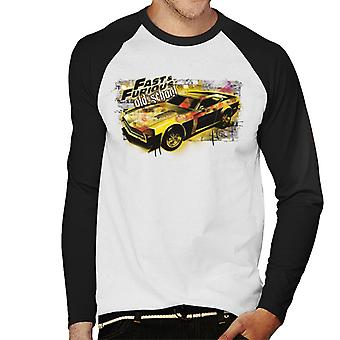 Fast and Furious Old School Men's Baseball Long Sleeves T-Shirt