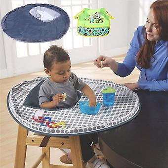 Baby Eating Table Mat Feeding Chair Cushion Waterproof Round Folding Infants
