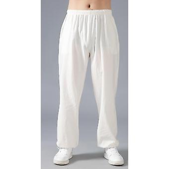 Loose Cotton Linen Pants Martial Arts Kung Fu Summer Running Yoga