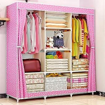 Diy Netkané Fold přenosný úložný nábytek, čtvrt skříň skříň