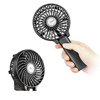 Easyacc vreckové elektrické USB ventilátory mini prenosný vonkajší ventilátor s dobíjacie 2600 mah skladací han