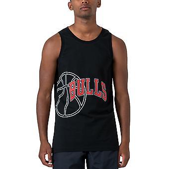 ニューエラ メンズ NBA シカゴ ブルズ バスケットボール グラフィック ベスト タンク トップ - ブラック