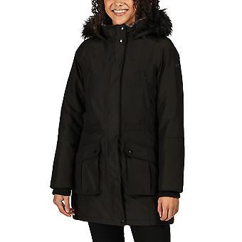 Regatta Womens Sefarina Waterproof Fur Trimmed Hooded Parka Jacket - Black
