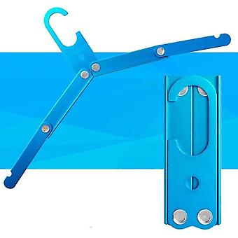 Aluminum Alloy, Multifunction, Non Slip And Foldable Cloth Drying Hanger