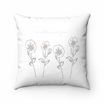 In Solitude We Grow Pillow