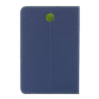 GOOSPERY Mercury Cross Texture Leather Case with Holder & Card slots & Wallet for Galaxy Tab A 8.0 / T350 / T355(Dark Blue)