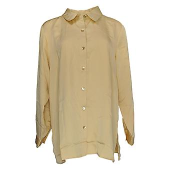 Linea door Louis Dell'Olio Women's Top Button Front Blouse Yellow A374709