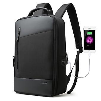 Bopai 851-009911 Business Anti-Diebstahl wasserdichte große Kapazität Doppel Schultertasche, mit USB-Ladeanschluss, Größe: 30.5x13x45cm (Schwarz)