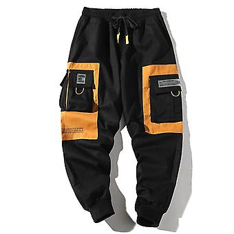 Hip Hop Men Multi-pocket Elastic Waist Design Harem Pant, Casual Trousers, Male