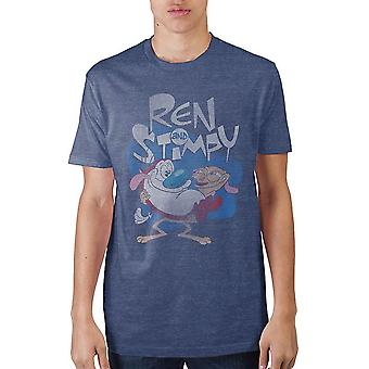 Ren & stimpy navy heather t-shirt