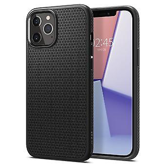 Funda para iPhone 12 Pro Max (6.7) en alfombrilla negra de silicona, aire líquido