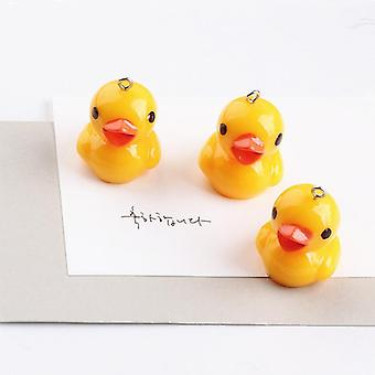 10pcs Cute Yellow Duck Hars Charms