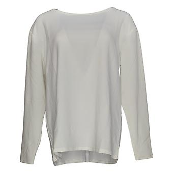 BROOKE SHIELDS Timeless Women's Top Long Sleeve Knit White A341965