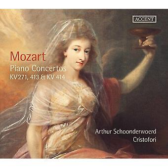 Mozart / Schoonderwoerd / Cristofori - Mozart: Piano Concertos [CD] USA import